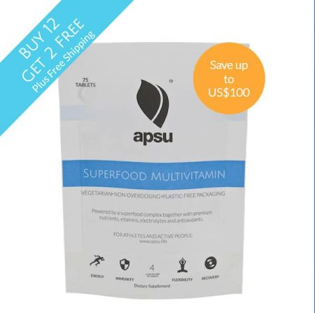 Apsu Superfood multivitamin buy 12 get 2 free