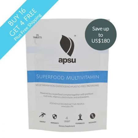 Apsu Superfood multivitamin buy 16 get 4 free